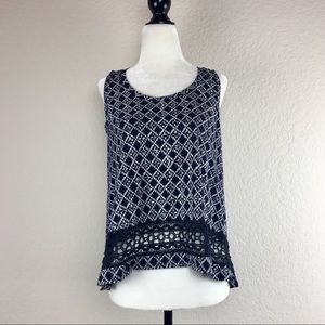 Loft Crochet Detail Tank